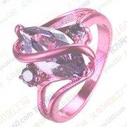 现有铜戒指镶嵌玻璃外发电镀,有图